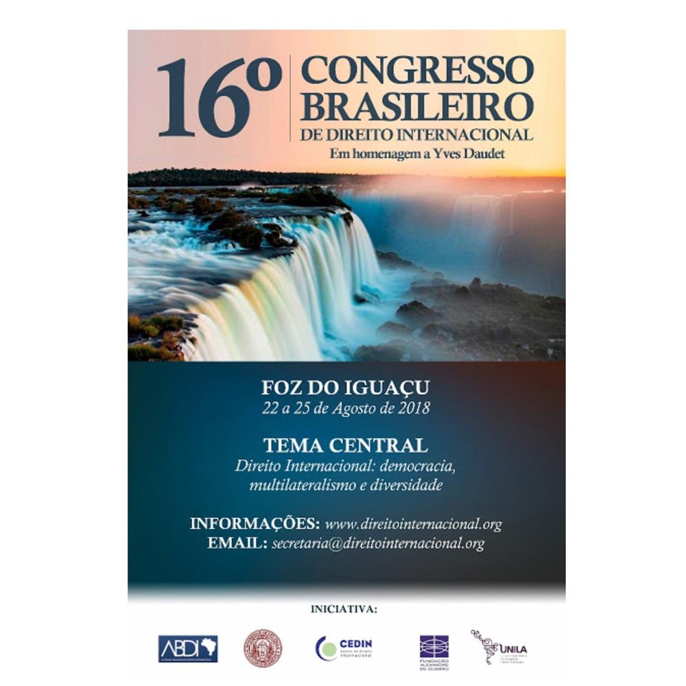16º Congresso Brasileiro de Direito Internacional